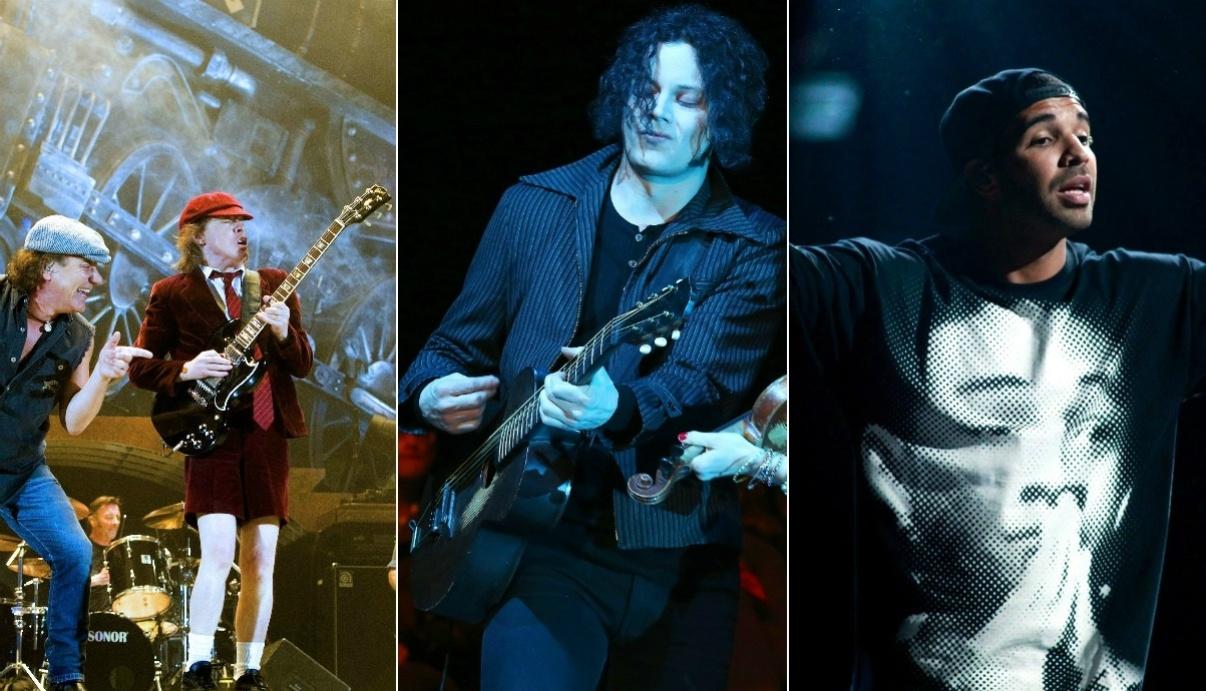 Montagem: Coachella anuncia AC/DC, Jack White e Drake