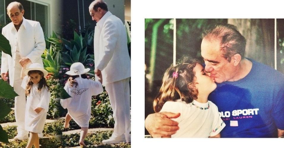 13.jan.2015 - Lívian Aragão usou seu perfil no Instagram para parabenizar o pai, Renato Aragão, pelo aniversário