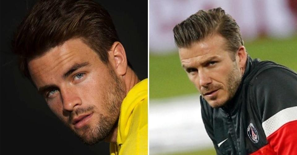 Rafael BBB15 e David Beckham