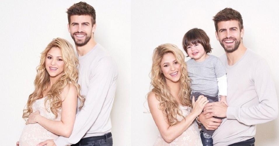 19.jan.2014 - Grávida de seu segundo filho, a colombiana Shakira exibiu o barrigão em duas fotos publicadas em seu perfil no Instagram nesta segunda-feira (19)