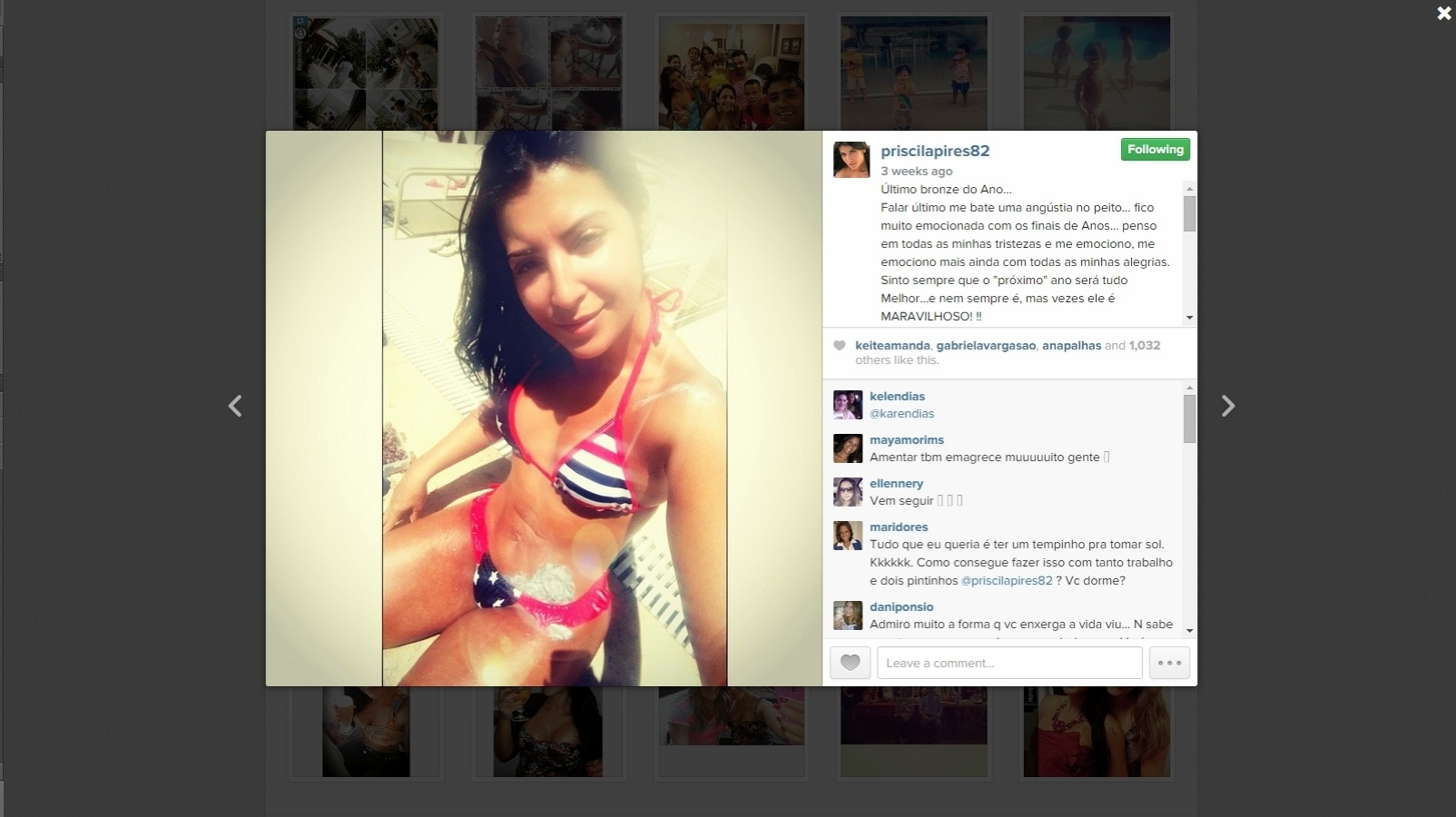 Priscila Pires atriu a atenção dos fãs e dos participantes no