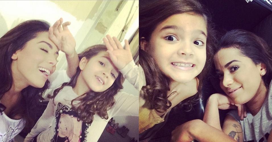 """20.jan.2015 - A pequena Mel Maia, cujo último personagem na TV foi a Pérola, de """"Joia Rara"""", é muito fã da cantora Anitta desde 2012"""
