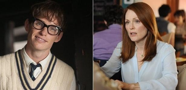 """Eddie Redmayne e Julianne Moore em """"A Teoria de Tudo"""" e """"Para Sempre Alice"""""""