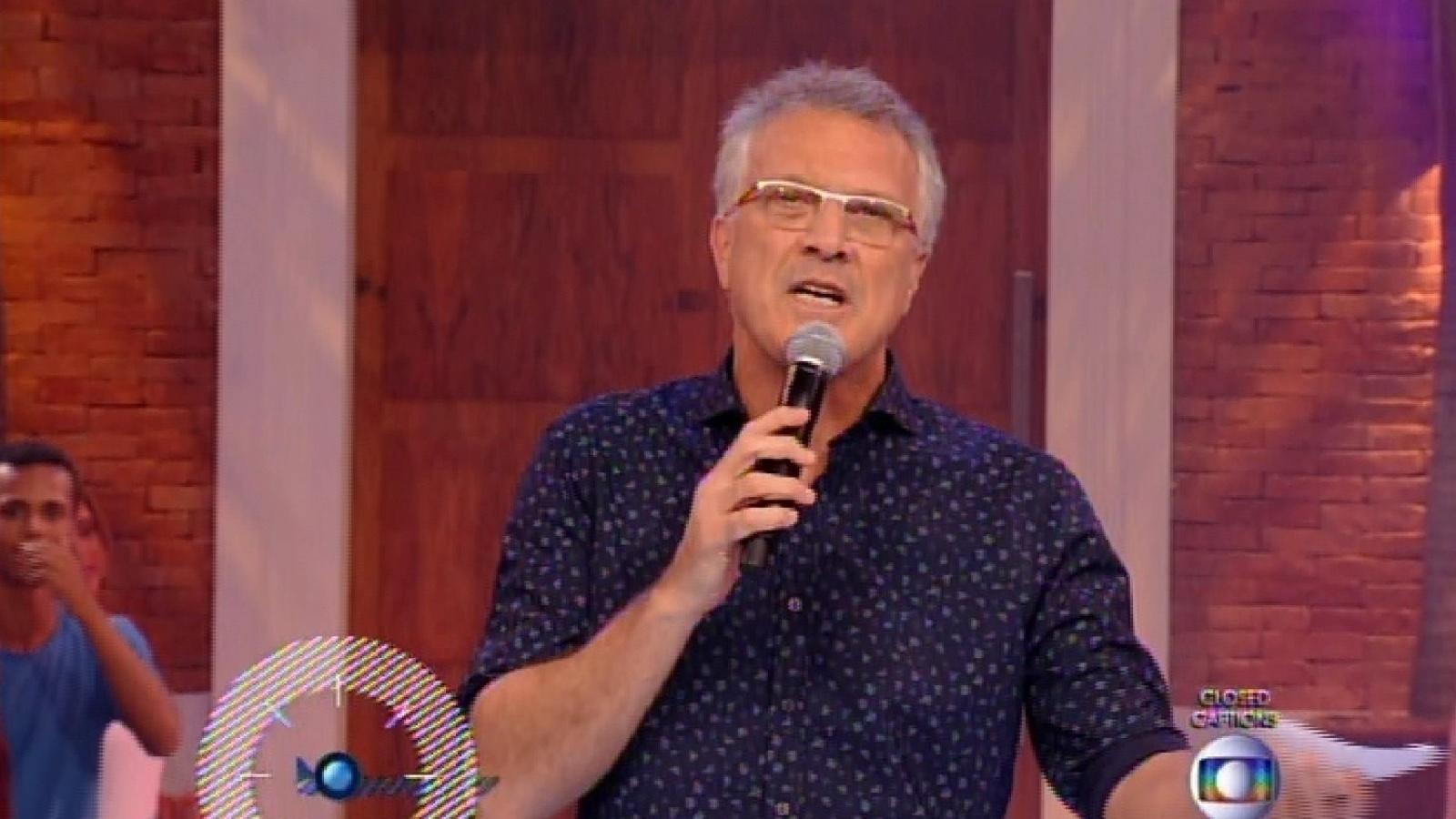 27.jan.2015 - Pedro Bial começa programa da primeira eliminação do