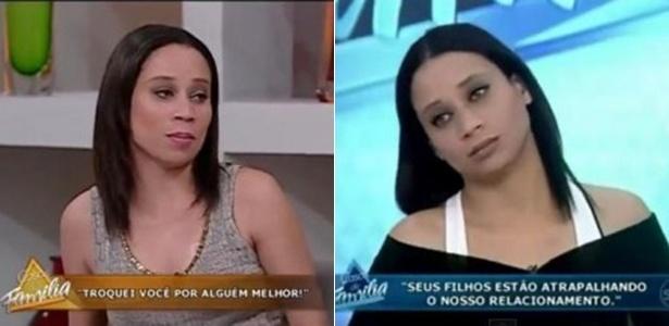 """A figurante Maria Andréia, de 26 anos, durante suas participações no """"Casos de Família"""""""