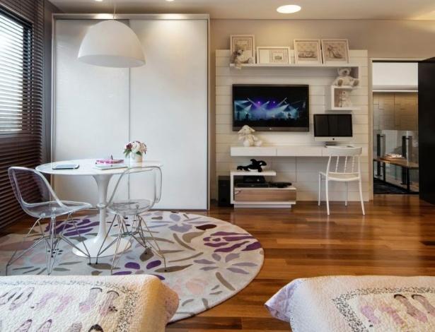 Escrivaninha Para Quarto Em Curitiba ~ Quartos de solteiro sugest?es para decorar o ambiente  BOL Fotos