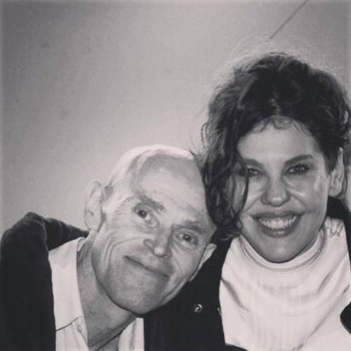 2.fev.2015 - A atriz Bárbara Paz publicou nesta segunda-feira (2) um registro dos bastidores do longa