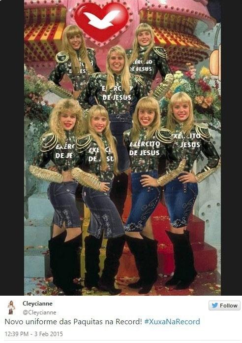 Xuxa na Record e memes na internet