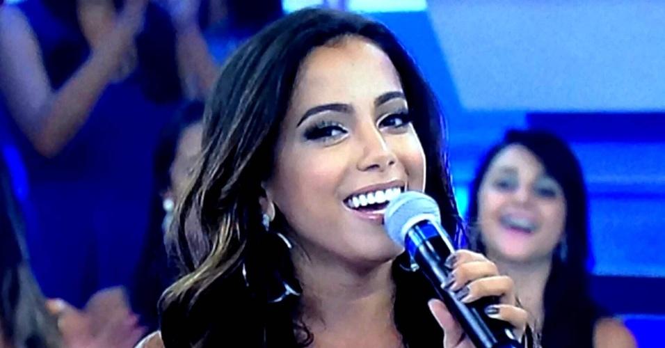 Anitta durante a sua participação no programa