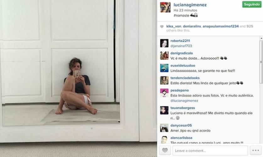 9.fev.2014 - Luciana Gimenez posta foto descabelada e divide fãs em seu Instagram.