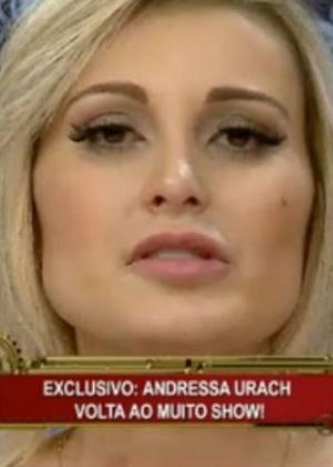 """Andressa Urach volta ao """"Muito Show"""""""