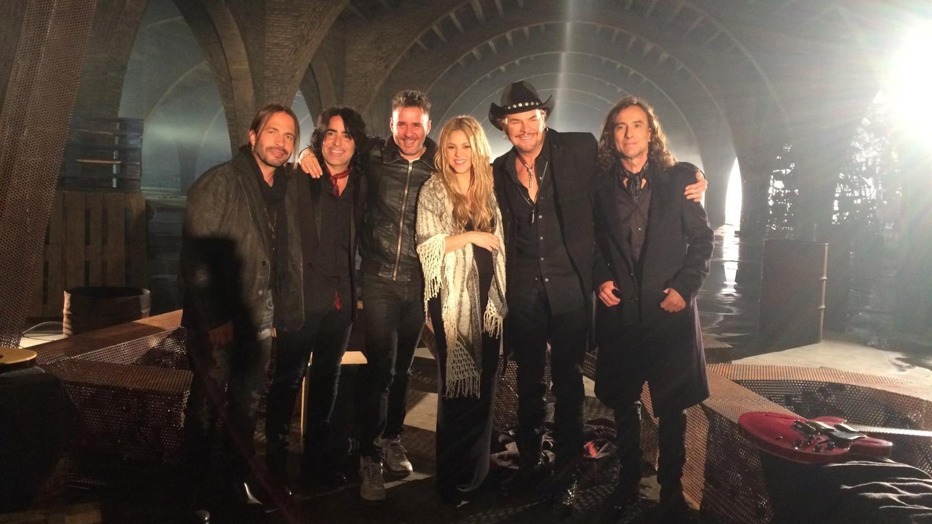 Shakira e o grupo mexicano Maná lançam a música