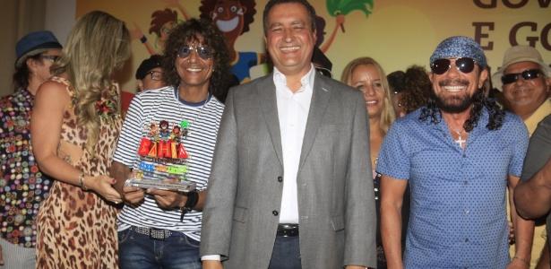 Luiz Caldas e Bell Marques participaram da coletiva oficial do Carnaval de Salvador