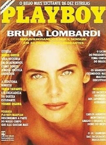 Bruna Lombardi, capa da Playboy em março de 1991