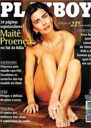Maitê Proença na capa da Playboy de agosto de 1996