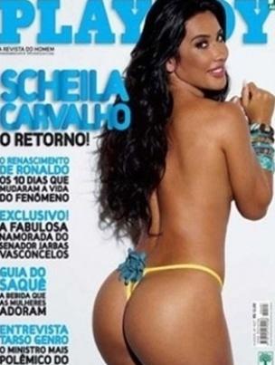 Scheila Carvalho é a capa da Playboy de abril de 2009