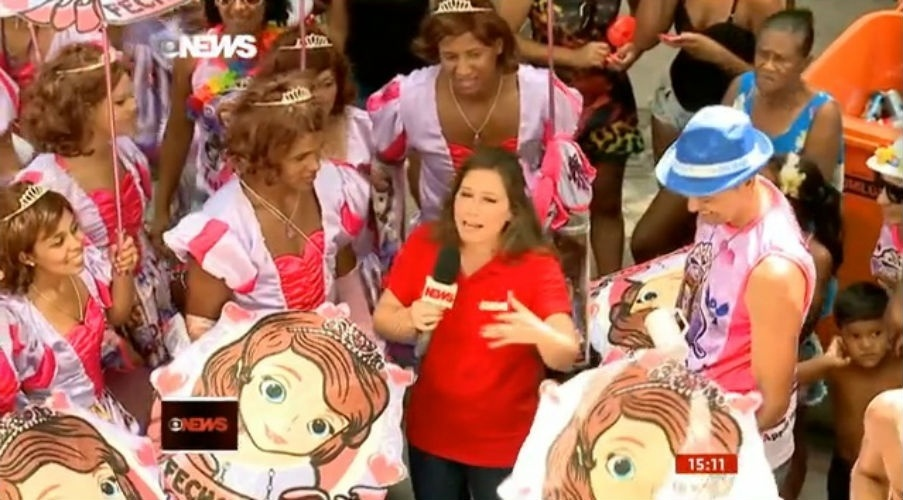 15.fev.2015 - Xuxa na Globo News