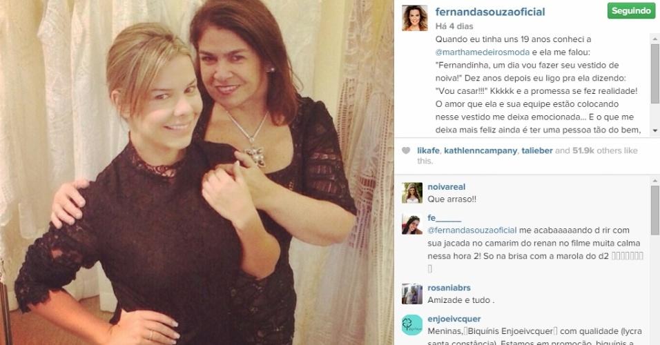 23.fev.2015 - Fernanda Souza e Thiaguinho se casam nesta terça-feira (24), em cerimônia tradicional em São Paulo. Martha Medeiros é a estilista responsável por seu vestido de noiva