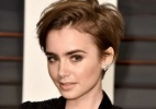 De cabelos curtos, novo visual de Lily Collins é elogiado na internet - Montagem/UOL, Pascal Le Segretain/Getty Images/AFP, Instagram/lilyjcollins e Mario Anzuoni/Reuters