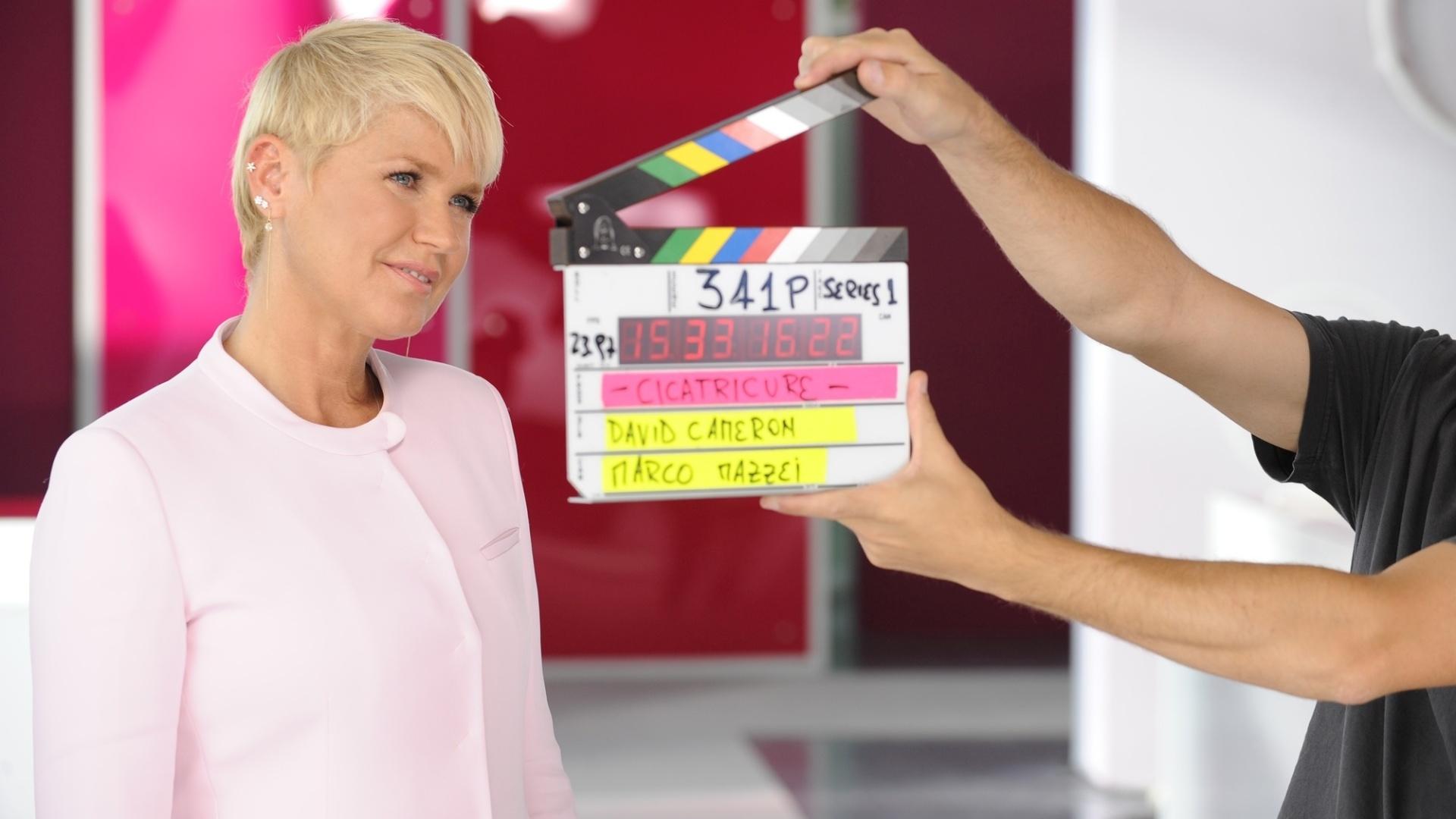 fev.2015 - Xuxa grava comercial de creme anti-idade na Argentina, dirigido pelo cineasta David Cameron