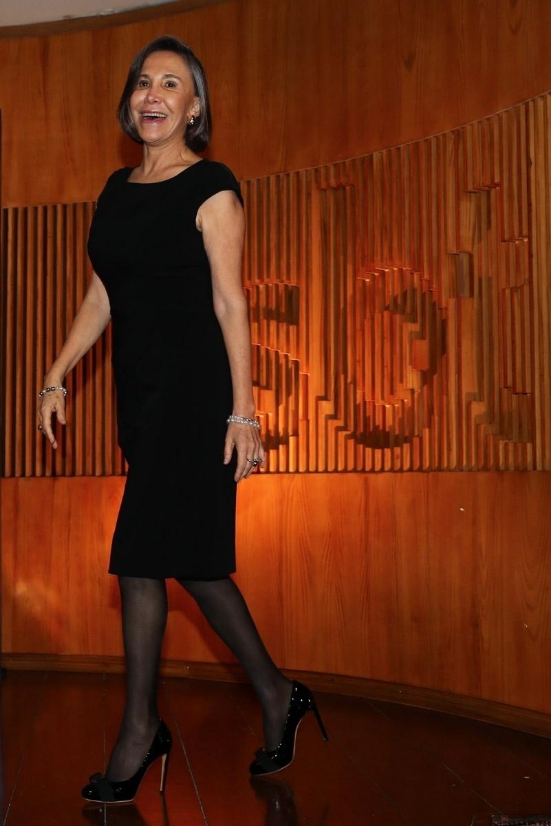 "25.fev.2015 - A atriz mexicana Florinda Meza, a Dona Florinda, do seriado ""Chaves"", está no Brasil e concede entrevista coletiva no SBT. Florinda estará ao vivo no ""Programa do Ratinho"""