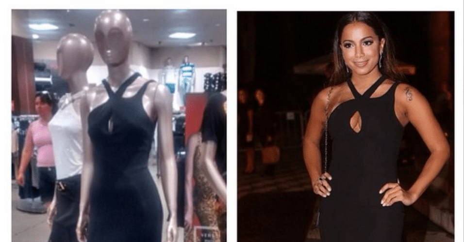 24.fev.2015 - Internautas comentaram que Anitta comprou seu vestido na liquidação da loja Riachuelo, em uma parceria que a rede de lojas fez com a marca Versace