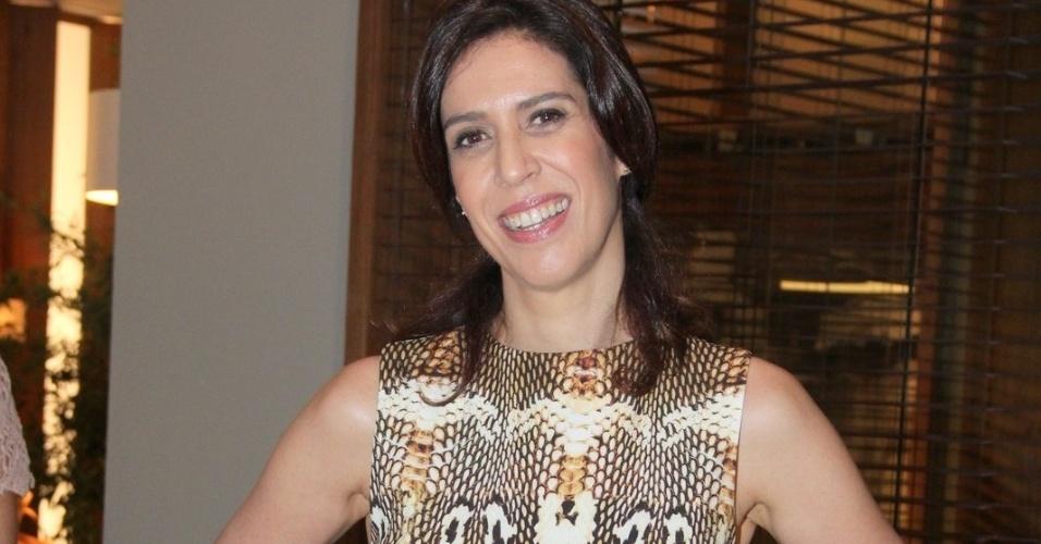 25.fev.2015 - Maria Clara Gueiros na apresentação de Babilônia. A atriz viverá Kátia Fonseca Vidal na trama