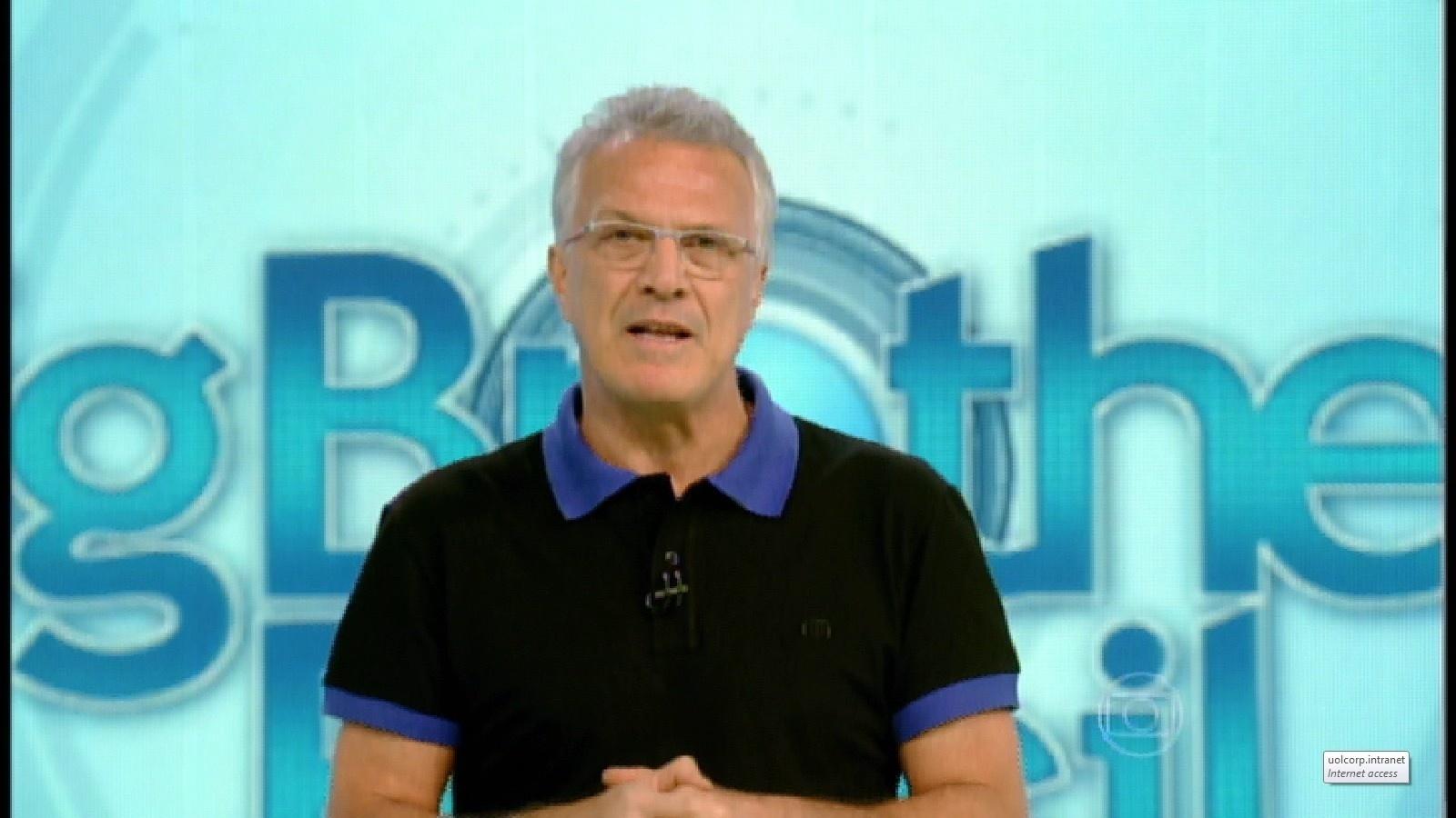 5.mar.2015 - Pedro Bial anuncia você no controle: público pode decidir se quer que o líder vote antes ou depois da casa
