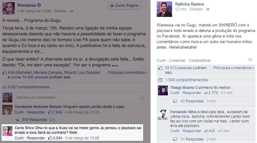 06.mar.2015 - Rafinha Bastos voltou a falar de Wanessa, desta vez em uma rede social. O apresentador do