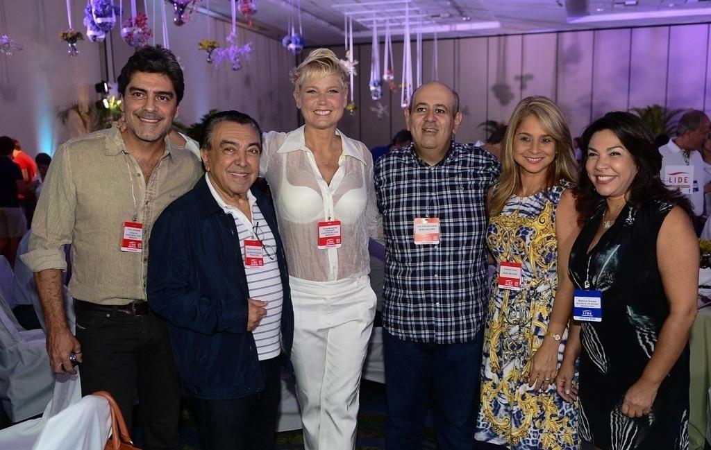 07.mar.2015 - Junno Andrade, Mauricio de Sousa, Xuxa, Luis Claudio Costa, Patricia Costa e Monica Sousa