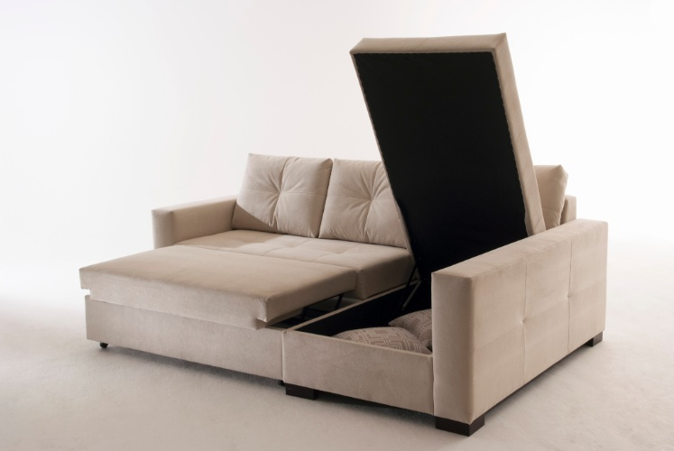 pin sofa cama futon minimalista color chocolate seminuevo