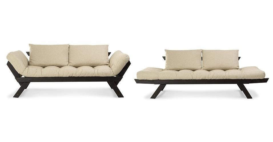 Sof cama pode ser usado em salas quartos e escrit rios for Sofa cama tipo futon
