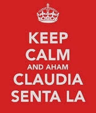 A ordem dada a Claudia também entrou no pôster britânico