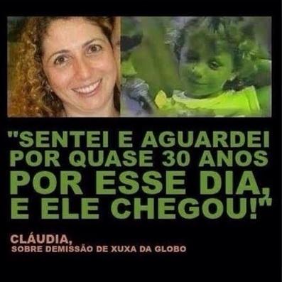 Até a verdadeira Claudia entrou nos memes. Essa montagem traz uma foto que seria de Claudia adulta, mas a identidade da verdadeira Claudia permanece um mistério