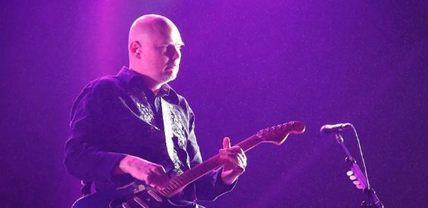 29.mar.2015 - Billy Corgan, do Smashing Pumpkins, durante show no Lollapalooza 2015, em São Paulo