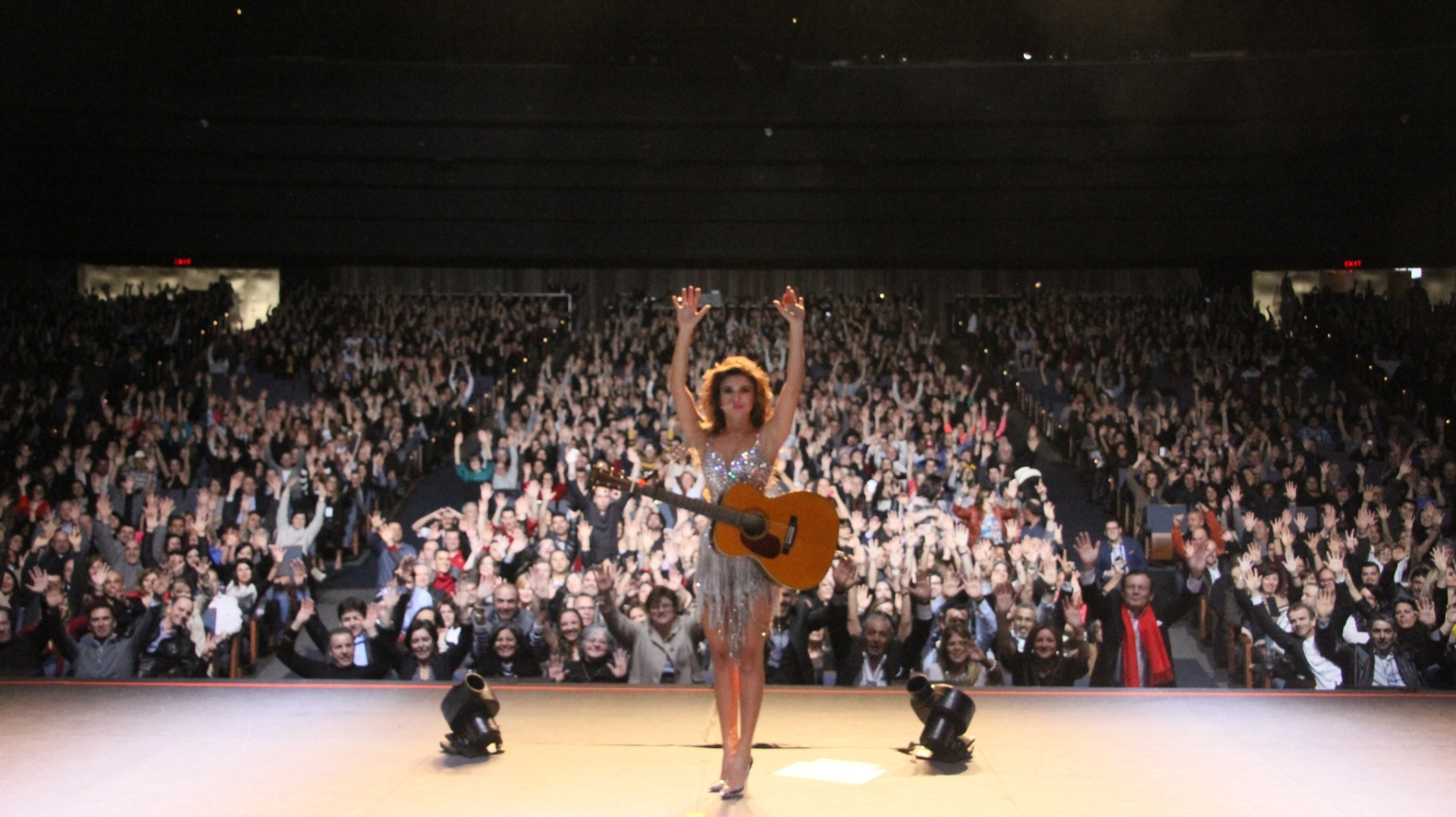 A cantora Paula Fernandes, em turnê nos Estados Unidos e Canadá