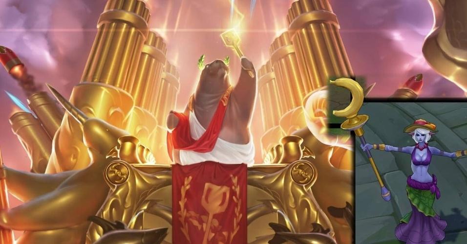 A Riot Games liberou neste 1º de abril o aclamado modo Ultra Rápido e Furioso, que reduz o tempo de recarga de todas as habilidades - e também novas skins, como a da Soraka Ordem das Bananas
