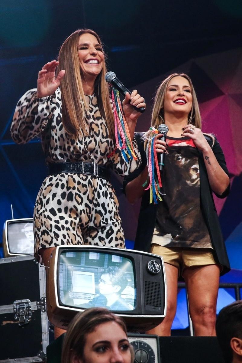 2.abr.2015 - Ivete Sangalo e Claudia Leitte se unem no