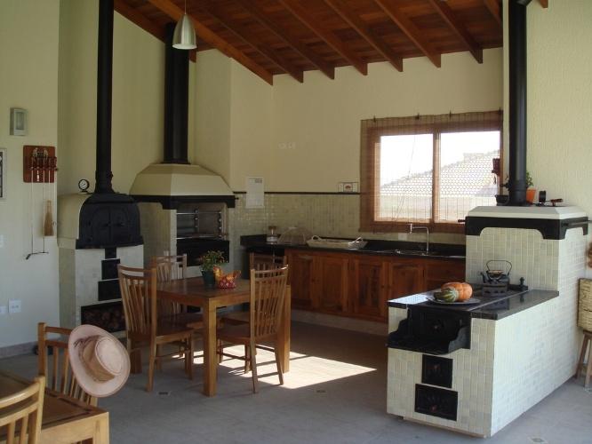 Cozinha rustica pequena simples v rios - Pared rustica interior ...