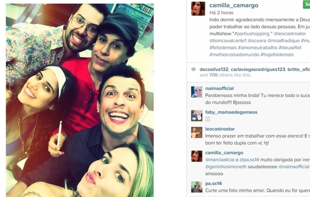 10.abr.2015 - Camilla Camargo posta foto ao lado de Ceará, Tom Cavalcante, Monique Alfradique eLéo Castro