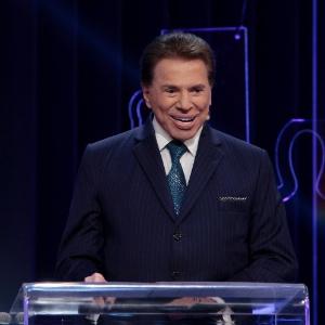 Silvio Santos durante apresentação do Troféu Imprensa
