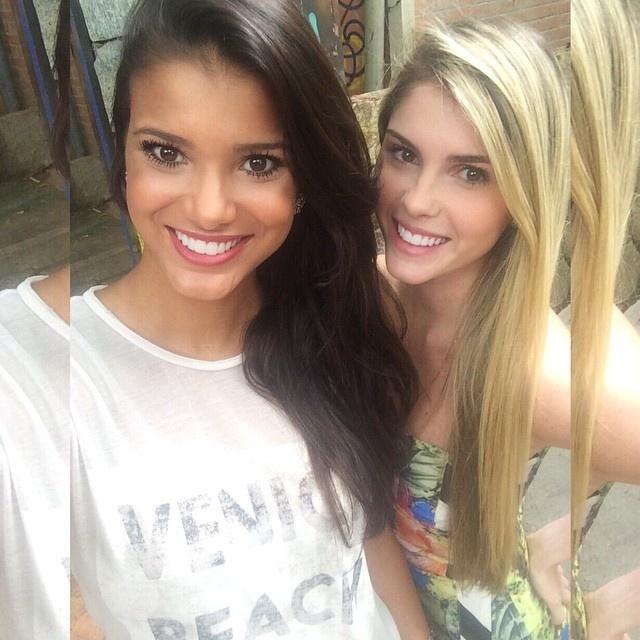 A ex-miss Brasil 2013, Jakelyne Oliveira, e Bárbara Evans evitam falar das cenas com Cauã Reymond