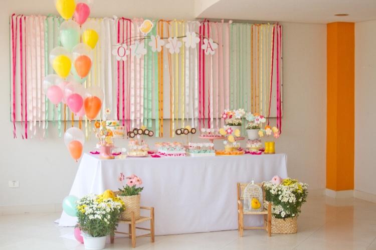 decoracao jardim aniversario:Veja 60 opções de mesas decoradas para festas infantis – BOL Fotos