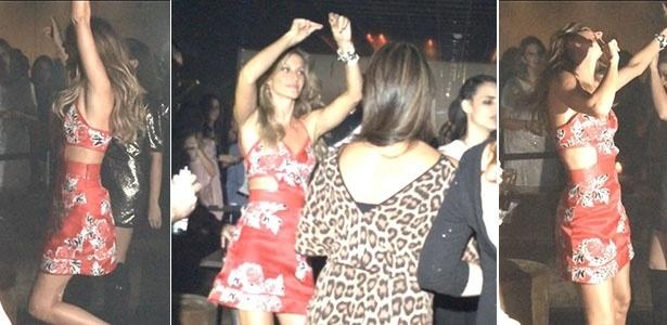 16.abr.2015 - Gisele Bündchen dança ao som de funk e Madonna após fazer sua despedida das passarelas na São Paulo Fashion Week