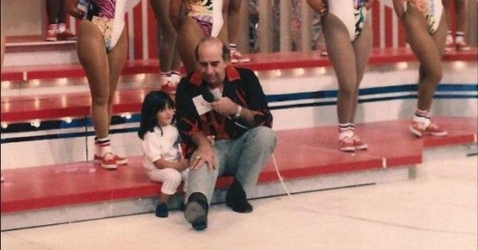 22.abr.2015- Thammy Miranda relembra sua infância em foto no programa