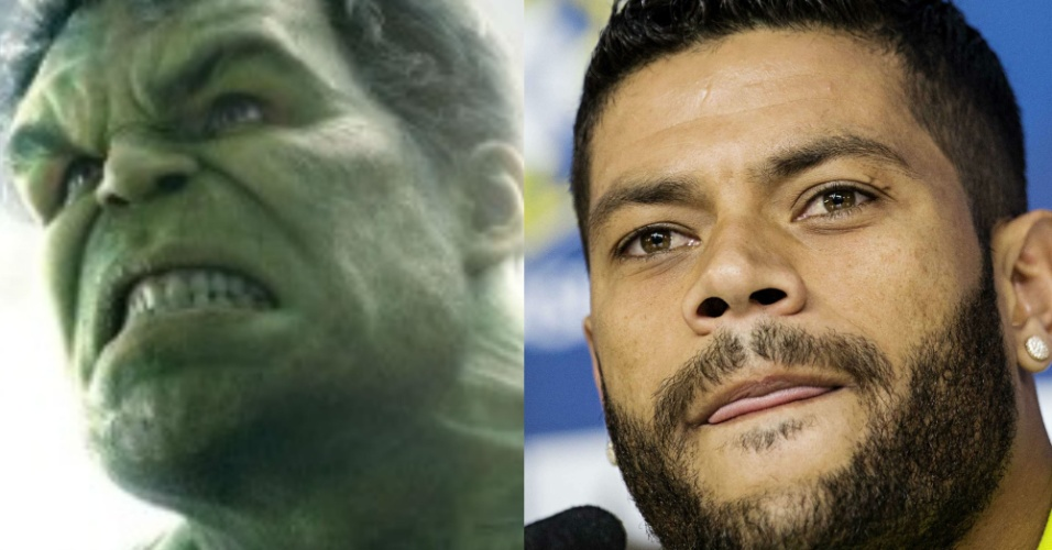 Essa é óbvia. Quem no Brasil seria o mais indicado para interpretar o Hulk no cinema? Acertou quem disse o jogador de futebol Hulk, claro. E não é que eles são parecidos?