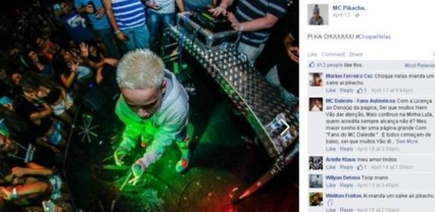 """Além de MC Melody, MC Pikachu (foto) junto a outros """"meninos do funk"""" são alvo de inquérito do MP"""