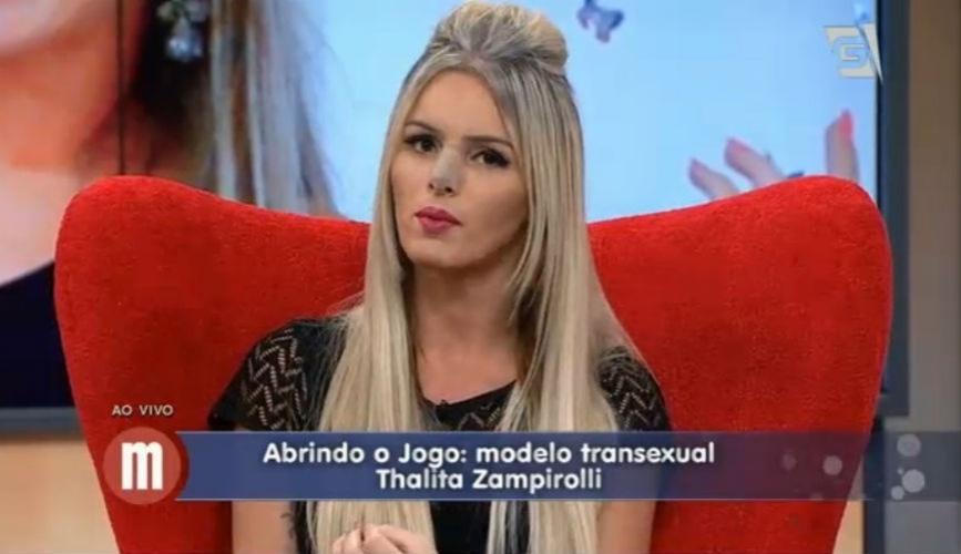 "29.abr.2015 - Thalita Zampirolli participa do ""Mulheres"" da Gazeta"