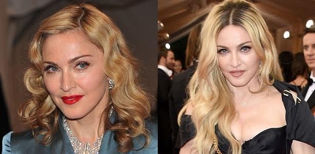 Madonna em duas aparições no MET: a primeira em 2011 e a segunda em 2015