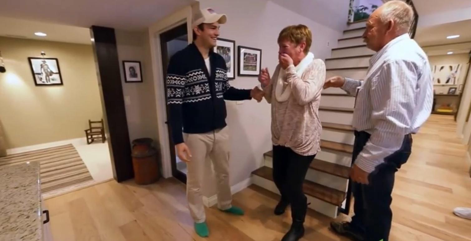Mãe de Ashton Kutcher tem a casa reformada pelo ator e fica emocionada ao ver as mudanças